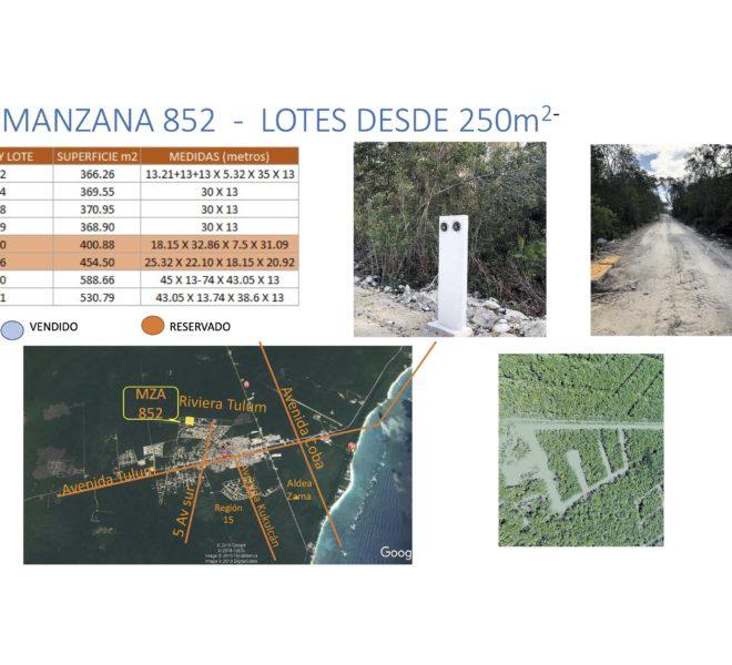 DISPONIBILIDAD LOTES MZA 852..