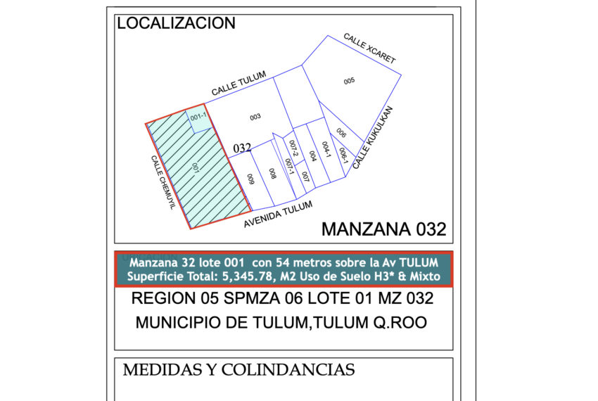 mza 32 lote 01 WOW RTC Property título 13.005