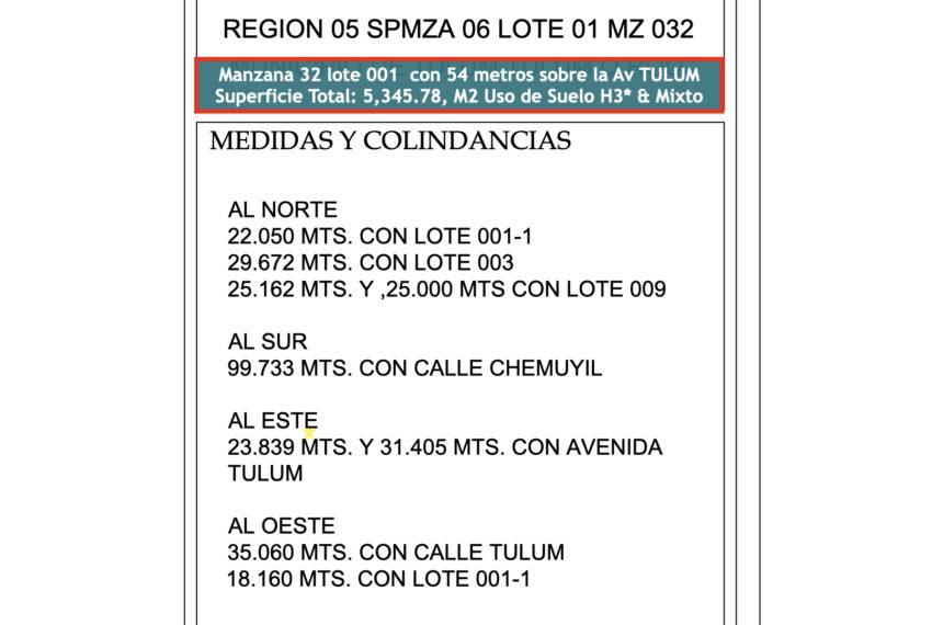 mza 32 lote 01 WOW RTC Property título 13.006